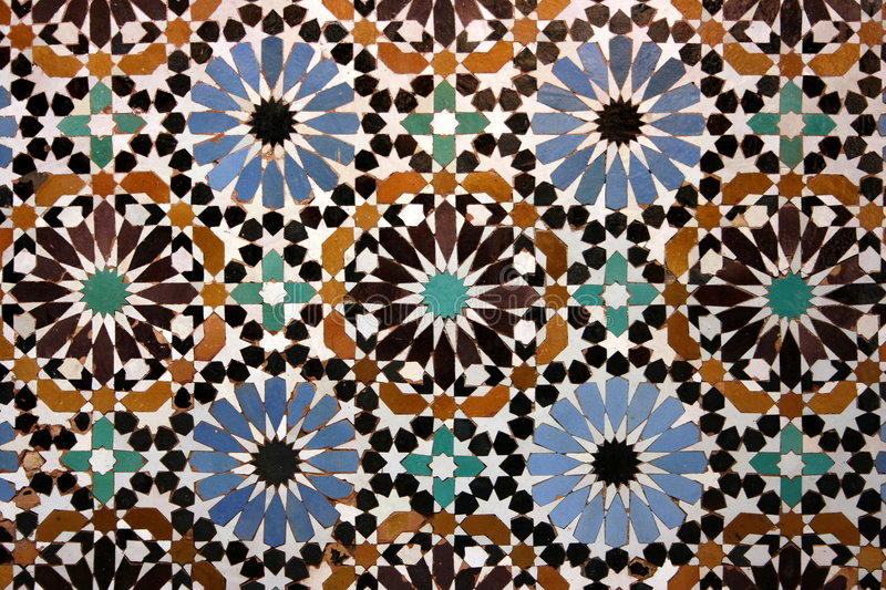 Vieille mosaïque arabe photo stock