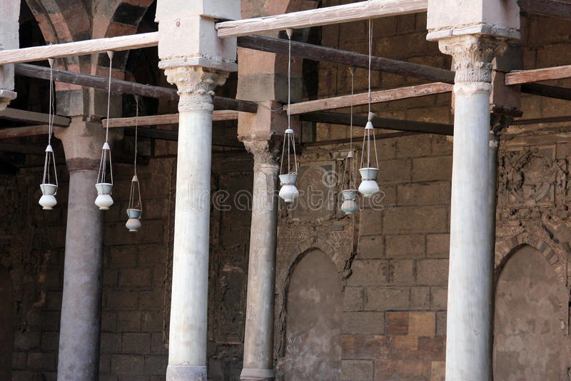 Vieille mosquée au Caire images stock