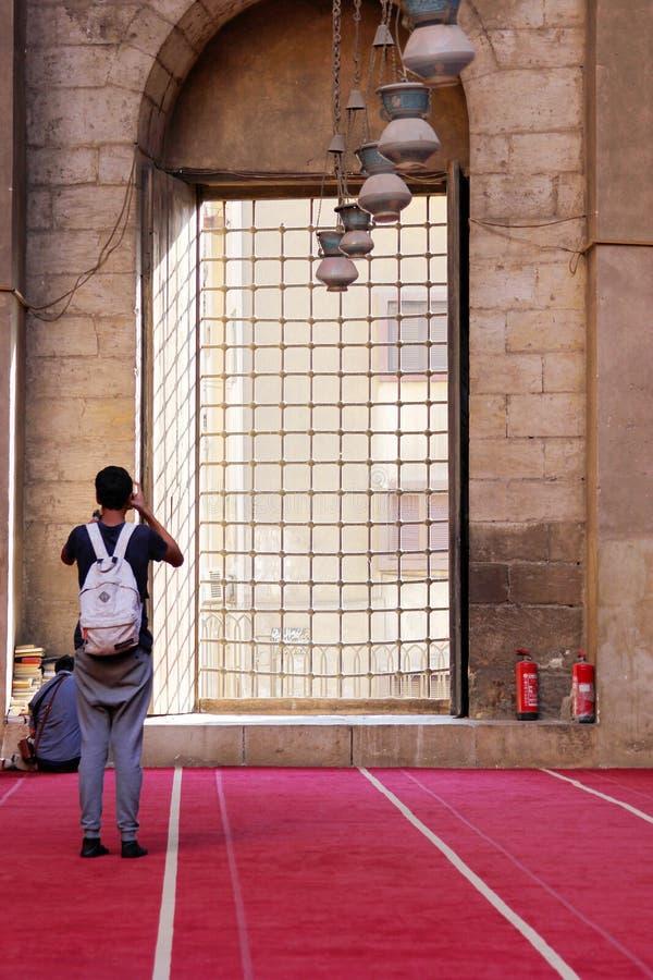 Vieille mosquée au Caire images libres de droits