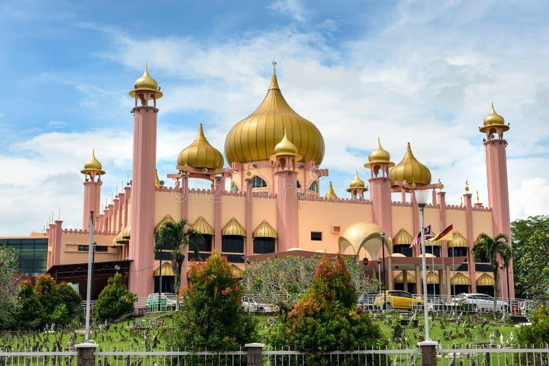 Vieille mosquée d'état dans Kuching photo stock