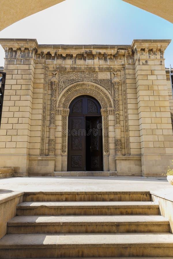 Vieille mosquée dans le fort à Bakou l'azerbaïdjan photo libre de droits