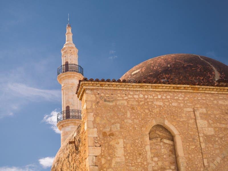 Vieille mosquée de Neratze Rethymno - en Grèce - bel éclairage photos stock