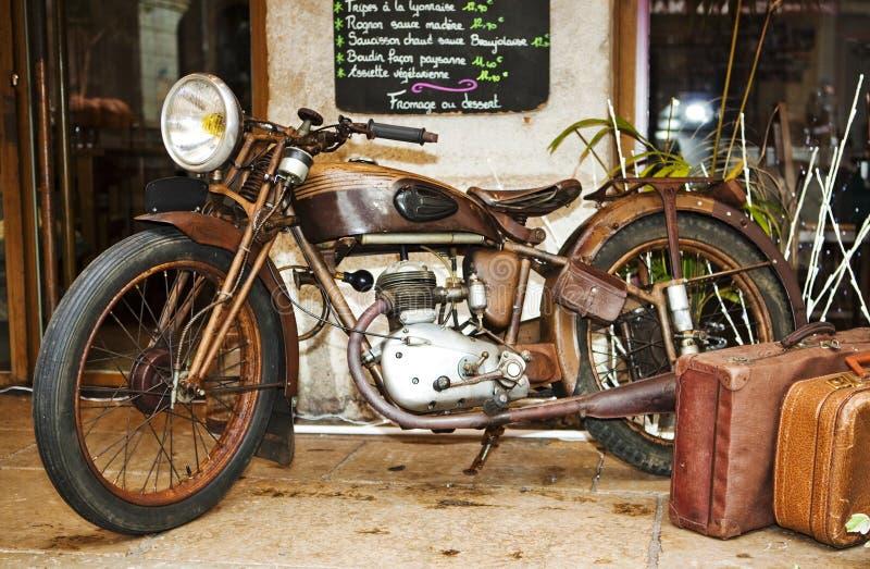 Vieille motocyclette photo libre de droits