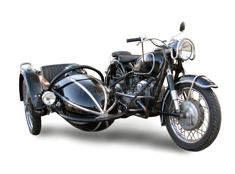 Vieille motocyclette images stock
