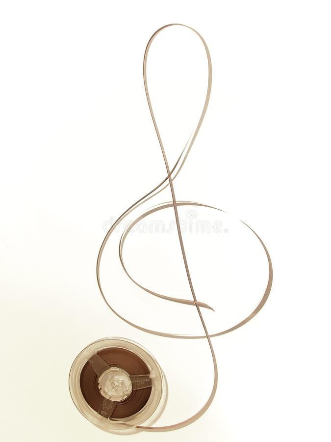 Vieille musique dans la sépia photos libres de droits