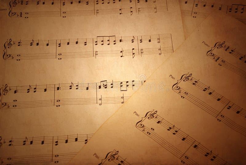 Vieille musique de feuille