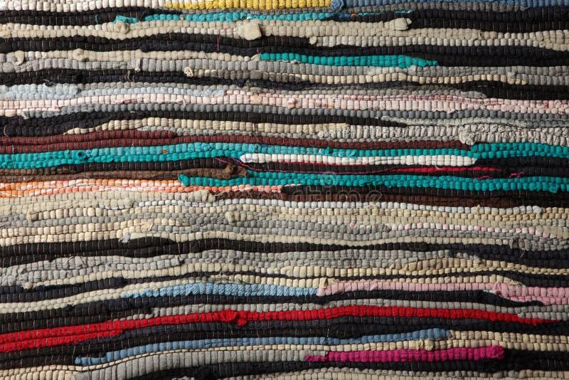 Vieille natte bariolée photo stock