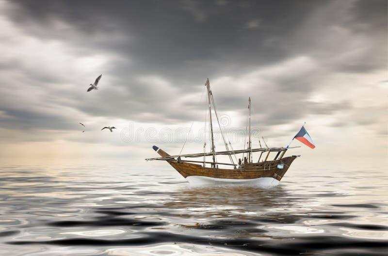 Vieille pêche koweitienne photos libres de droits