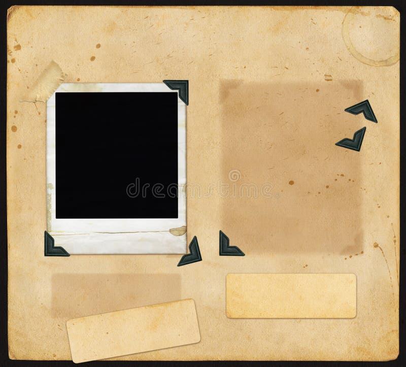 Vieille page d'album illustration stock