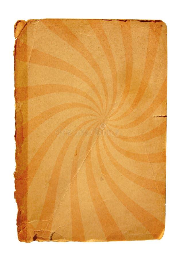 Vieille page de papier avec le motif de pirouette photographie stock libre de droits