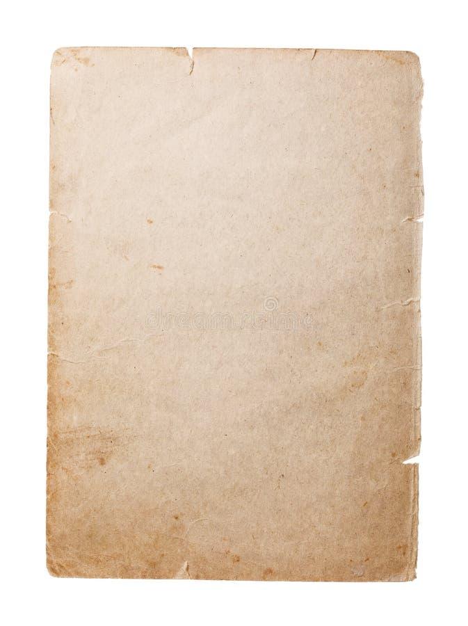 Vieille page vide du livre qui a tourné jaune au fil du temps photographie stock libre de droits