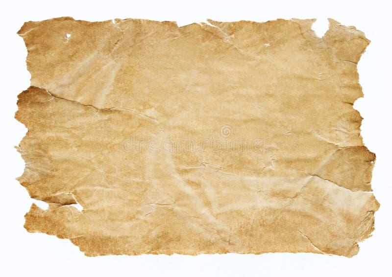 Vieille partie de papier images libres de droits