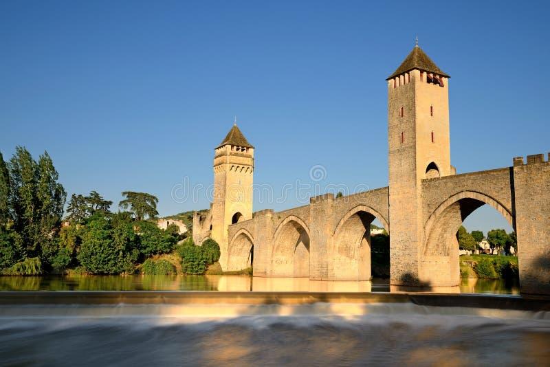 Vieille passerelle Cahors photos libres de droits