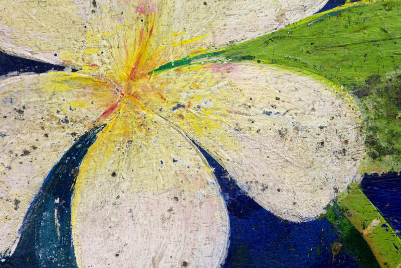 Vieille peinture de Plumeria photos libres de droits