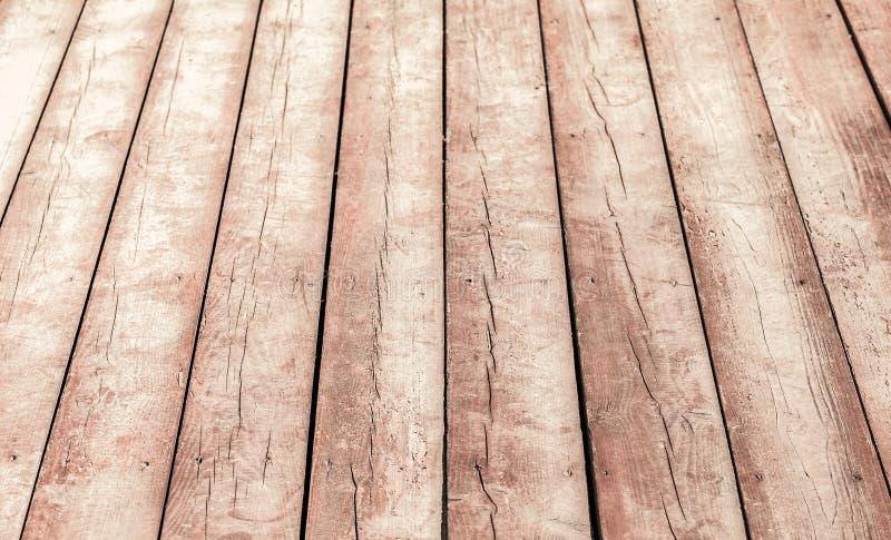 Vieille perspective en bois de plancher Texture de fond photographie stock libre de droits