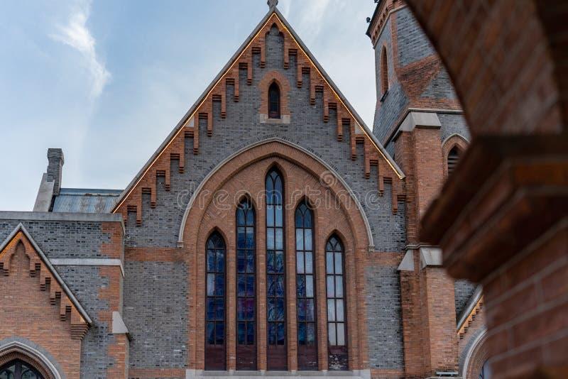 Vieille petite église à Changhaï photographie stock