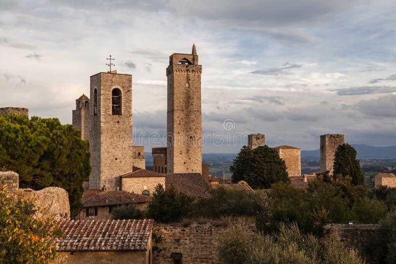 Vieille petite ville médiévale San Gimignano en Toscane, Italie photos stock