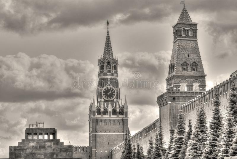 Vieille photo de cru de Moscou Kremlin image stock