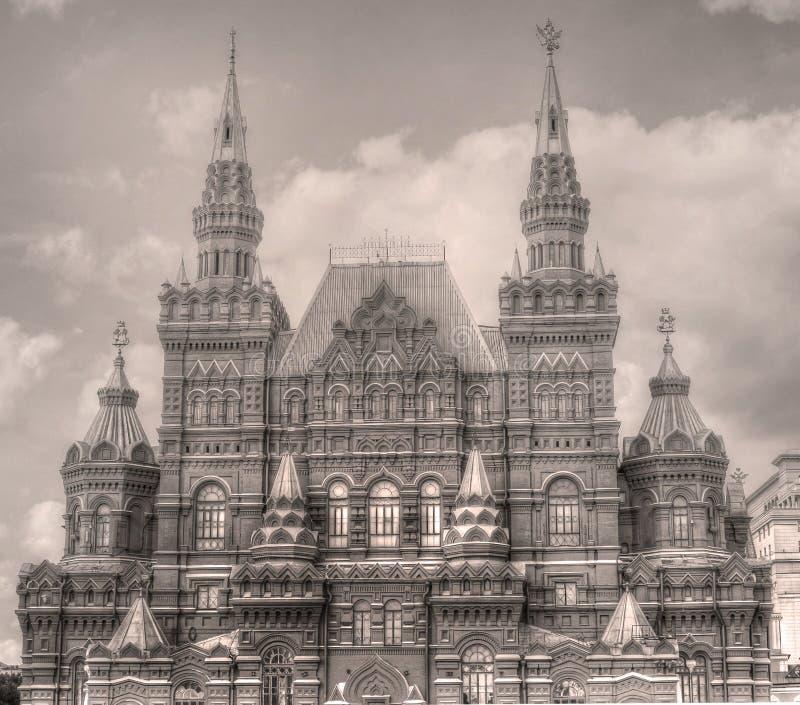 Vieille photo de cru de musée historique d'état à Moscou, Russie image stock