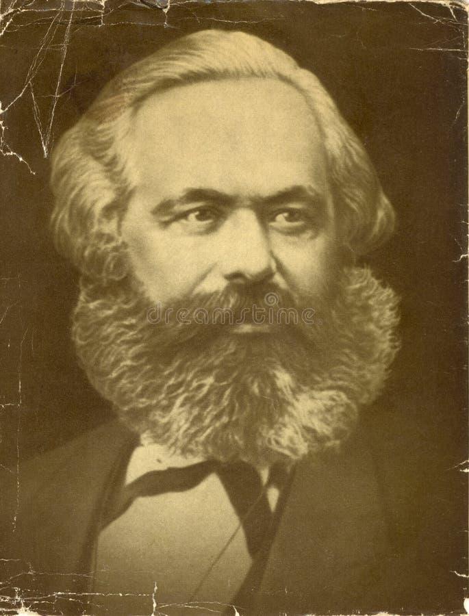 Vieille photo de Karl Marx photographie stock libre de droits