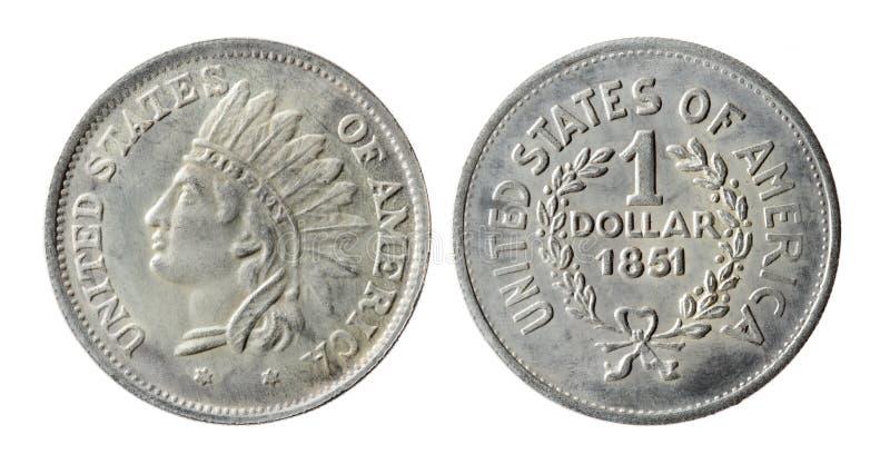 Vieille pièce de monnaie américaine photos stock