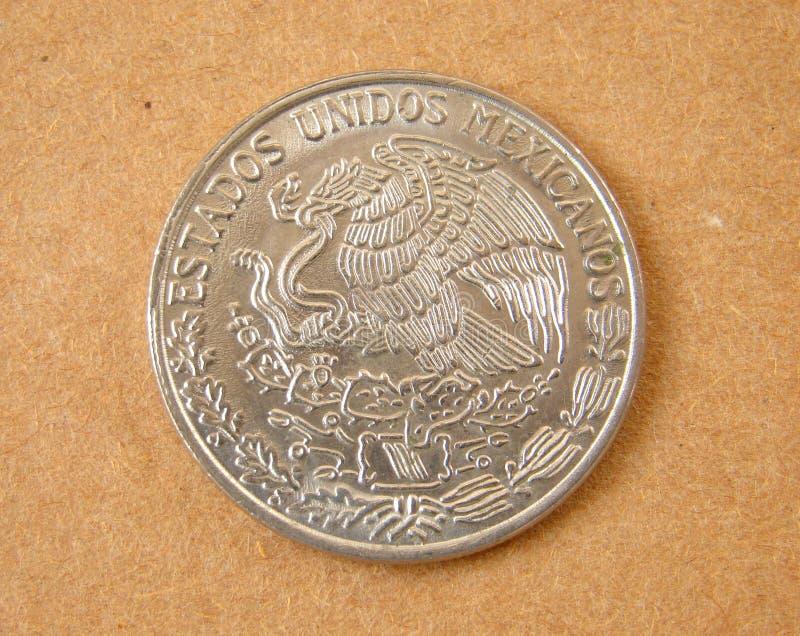 Vieille Pièce De Monnaie Du Mexique Photographie stock