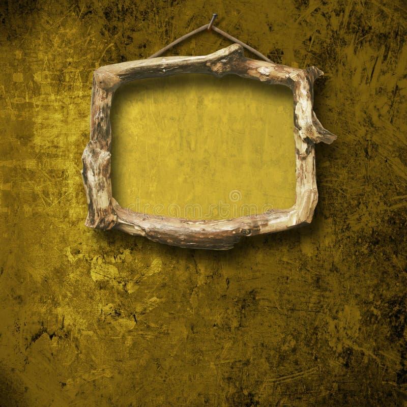Vieille pièce, intérieur grunge avec la trame photo stock