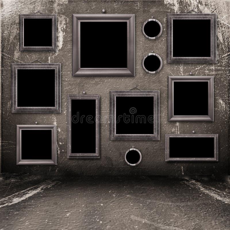 Vieille pièce, intérieur industriel grunge photographie stock libre de droits