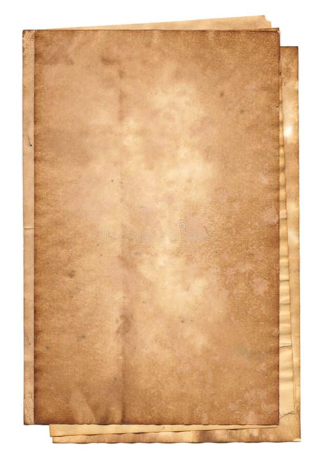 vieille pile de papiers image stock