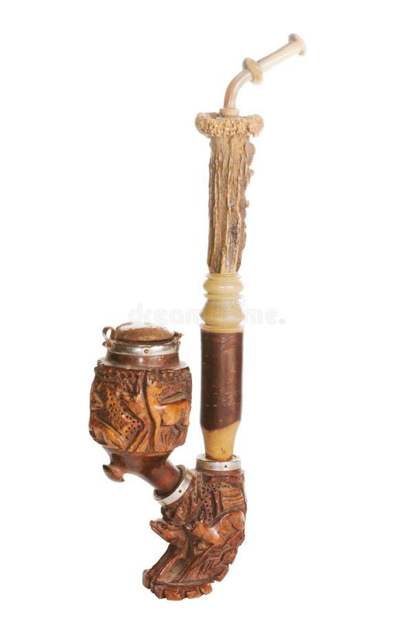Vieille pipe en bois photo libre de droits