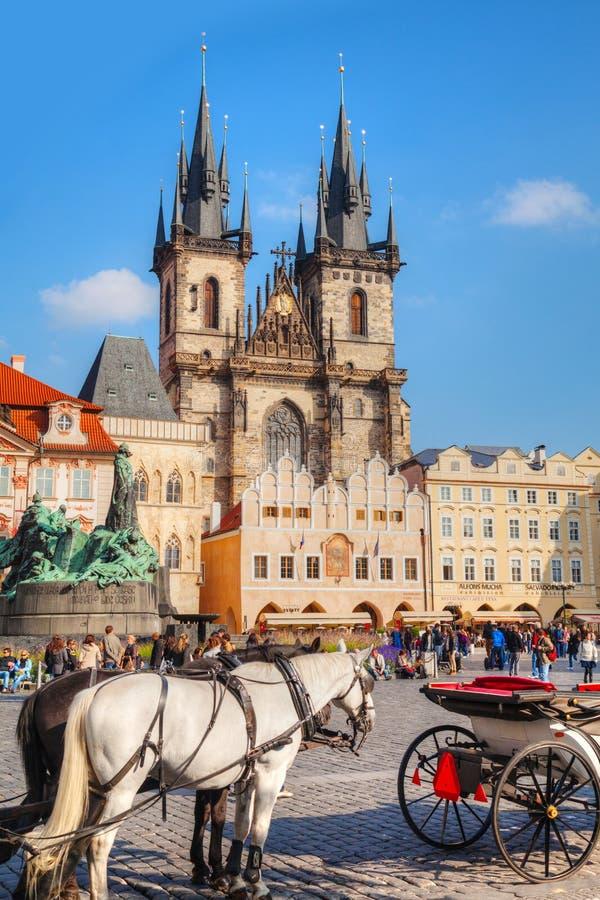 Vieille place à Prague photo stock