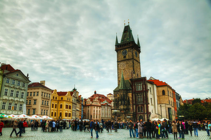 Vieille place à Prague images libres de droits