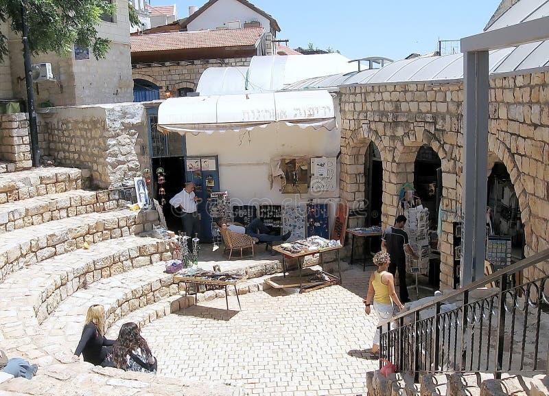 Vieille place de ville de Safed 2008 photographie stock libre de droits