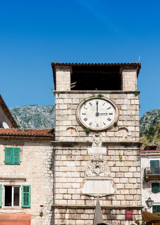 Download Vieille Place Kotor De Trg OD Oruja De Tour D'horloge Image stock - Image du côté, côtier: 56485265