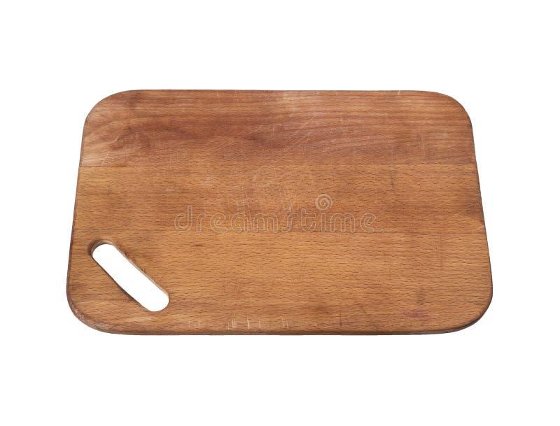 Vieille planche à découper en bois rectangulaire de Brown images libres de droits