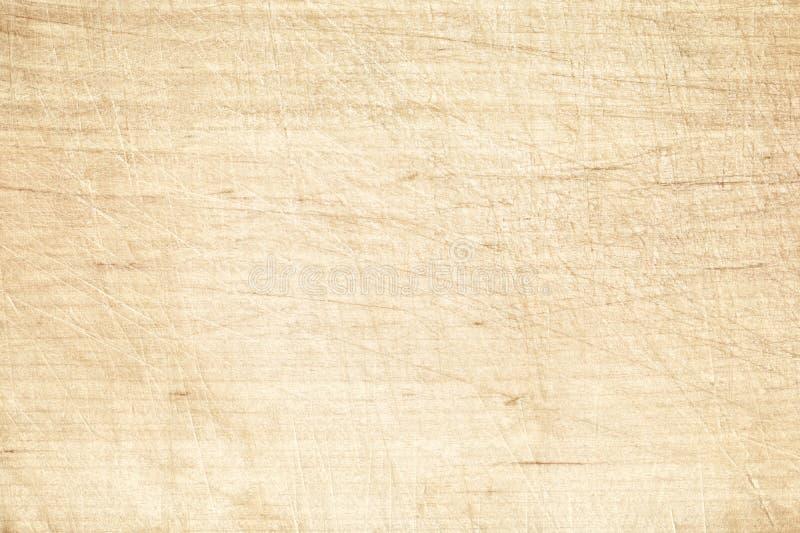 Vieille planche à découper rayée légère ou table en bois photographie stock libre de droits
