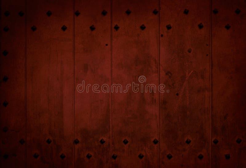 Vieille planche en bois rouge foncé photographie stock libre de droits