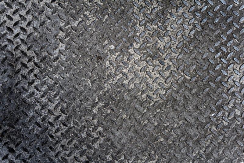 Vieille plaque de diamant en métal image libre de droits