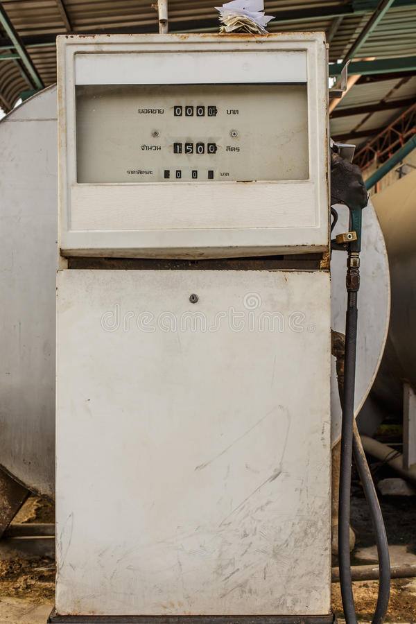 Vieille pompe à essence photos stock