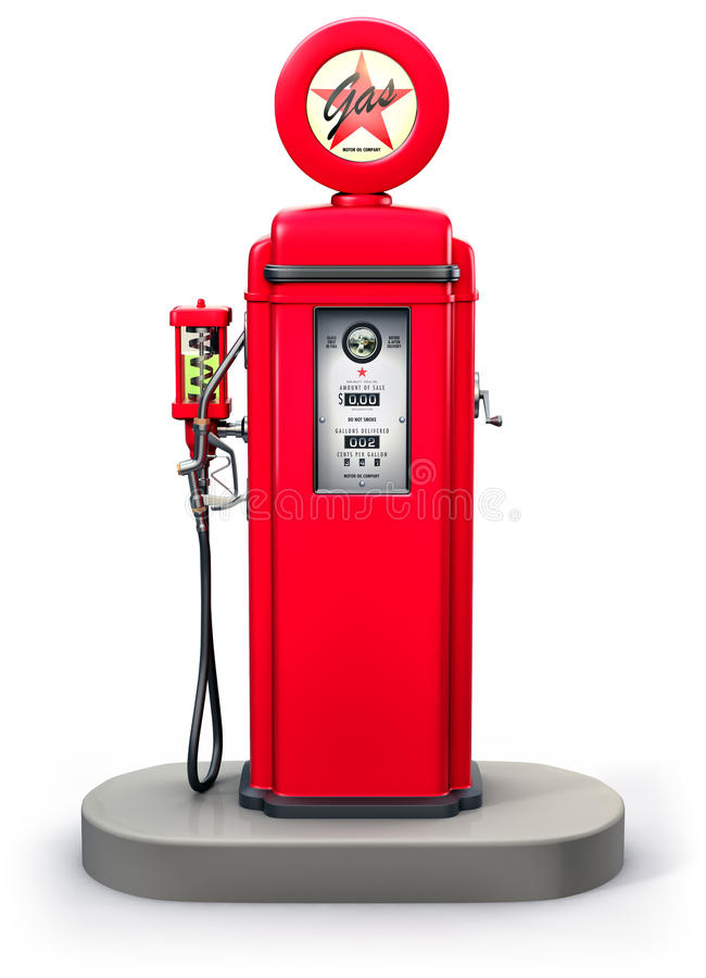 Vieille pompe à gaz illustration de vecteur
