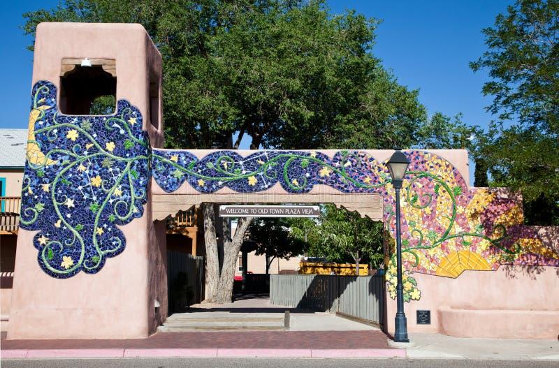 Vieille porte de ville à Albuquerque photo libre de droits