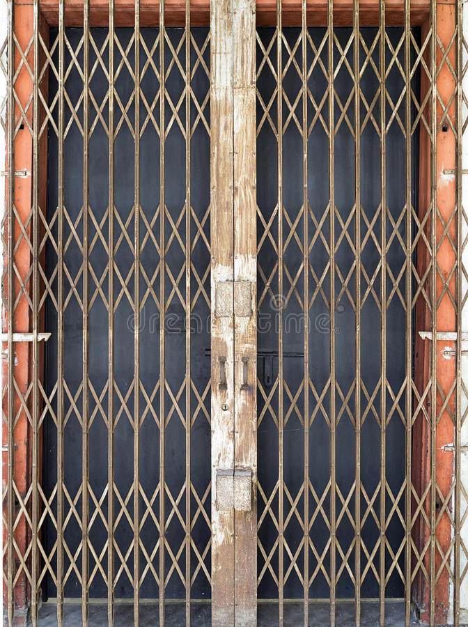Vieille porte en acier à Georgetown photographie stock