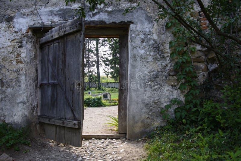 Vieille porte en bois photographie stock
