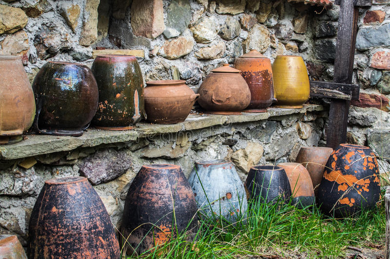 Vieille poterie photographie stock