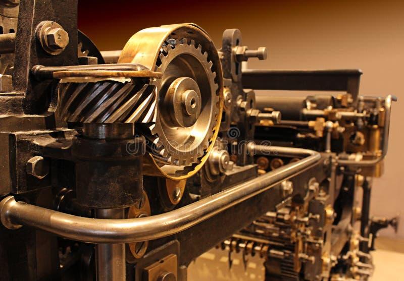Vieille presse typographique photo libre de droits