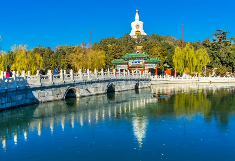 Vieille Qing Library Archives Beihai Park Pékin Chine image stock