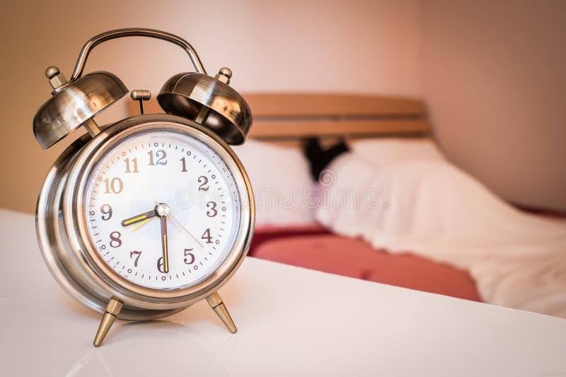 Vieille rétro horloge d'alarme photos libres de droits