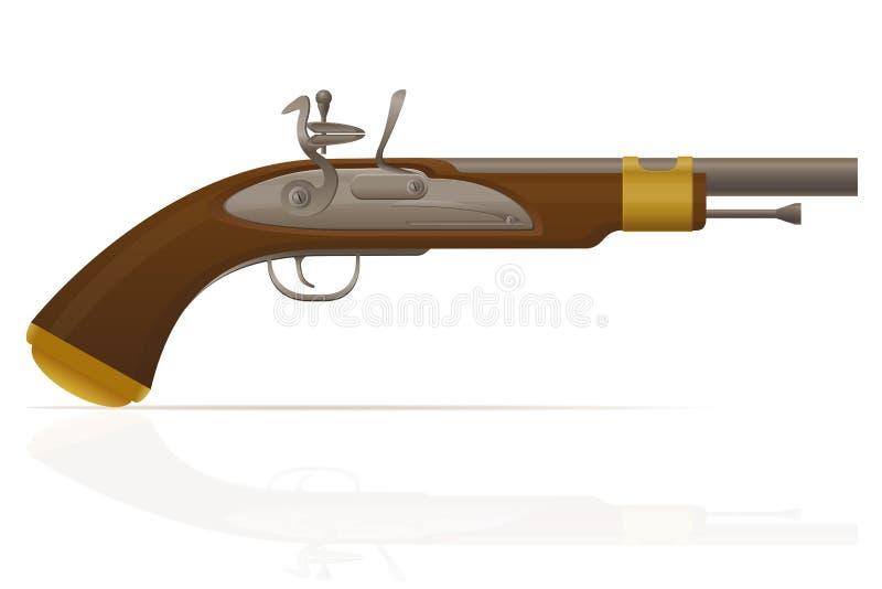 Vieille rétro illustration de vecteur de pistolet à éteincelle illustration libre de droits