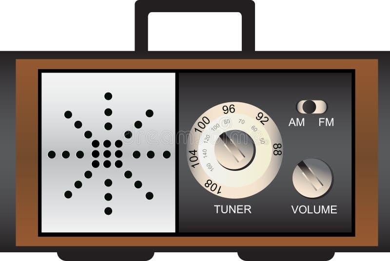 Vieille rétro radio illustration de vecteur