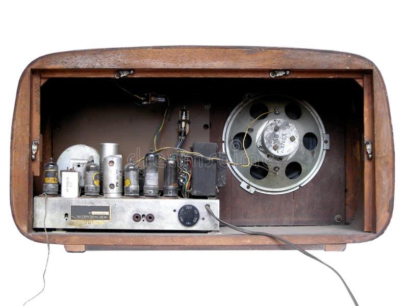 Vieille radio (arrière) photos libres de droits